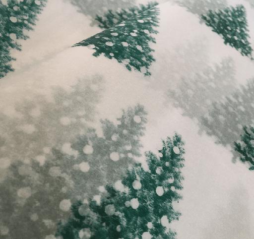 silkinis popierius su eglem